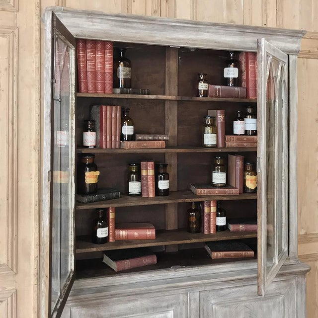 19th Century French Louis Philippe Period Whitewashed Bookcase For Sale In Dallas - Image 6 of 13