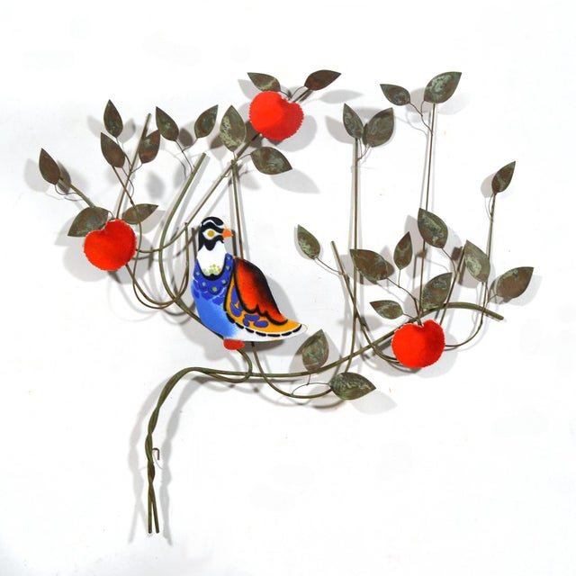 Curtis Jere C. Jeré Bird in a Tree Enameled Wall Sculpture For Sale - Image 4 of 6