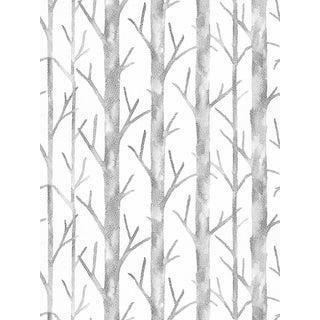 Scalamandre Everett Wallpaper, White, 8 Yards For Sale