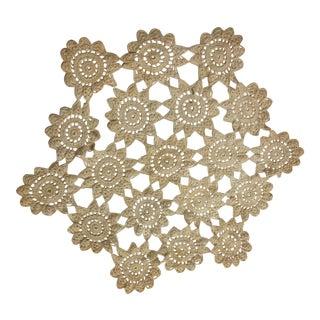 Vintage Crochet Table Doily For Sale