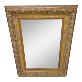 Gold Carved Scroll Leaf Mirror For Sale
