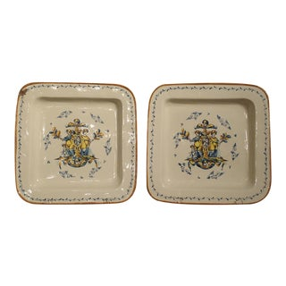 Pair of Large Hand Painted Italian Plates For Sale