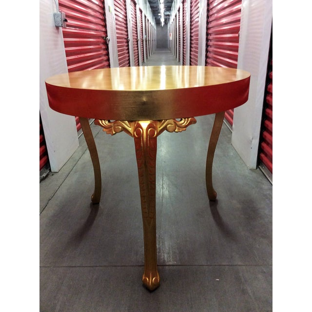 Gold Round Entry Table - Image 6 of 9
