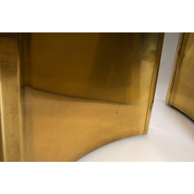 MASTERCRAFT BRASS TRILOBI DINING TABLE BASES - Image 3 of 8