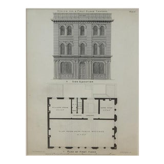 A Pair of American Architecural Engravings Depicting Taverns For Sale