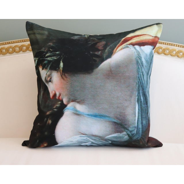 Angel Painting in the Louvre Photo Pillow For Sale - Image 6 of 13