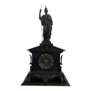 French Bronze Empire Clock For Sale