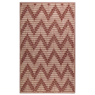 Chevrons N.32 Red Cashmere Blanket, 51' X 71' For Sale