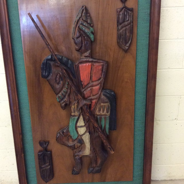 Witco Don Quixote Knight Wood Carved Wall Art For Sale - Image 11 of 11
