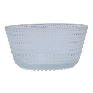 French Crystal Bubble Bowl For Sale
