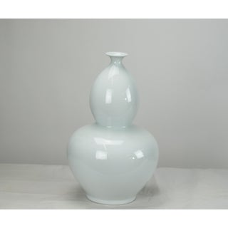 Asian Modern White Bottle Gourd Porcelain Vase Preview