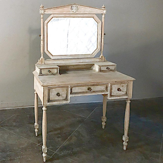 19th Century French Louis XVI Painted Vanity For Sale - Image 4 of 13