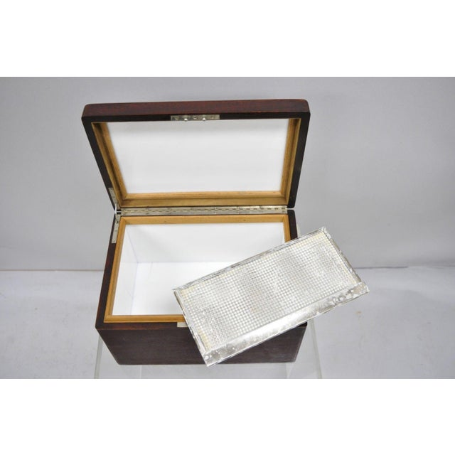 Early 20th Century Antique Mahogany Cigar Humidor For Sale - Image 10 of 11