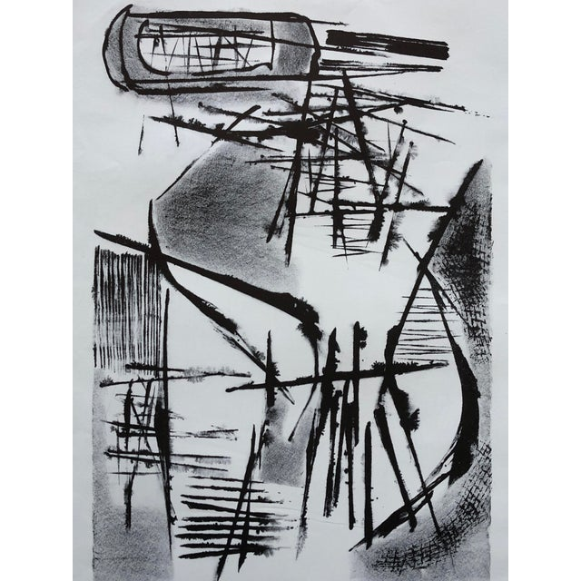 Jerry Opper Jerry Opper Mid Century Abstract Stone Lithograph For Sale - Image 4 of 10