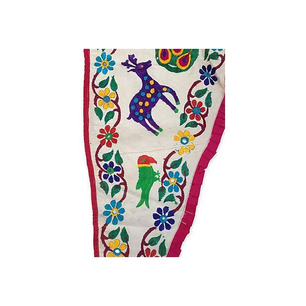 Embroidered Ganesha Window Valance For Sale - Image 5 of 7