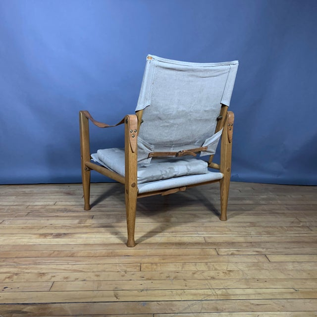 Kaare Klint Safari Chair, Rud Rasmussen, Denmark For Sale In New York - Image 6 of 11