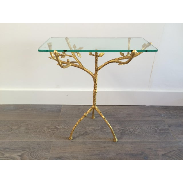 "Gilt Iron Giacometti Style ""Tree"" Side Table - Image 7 of 11"