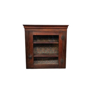 1950's Vintage French Cherry Wood Apothecary Cabinet For Sale