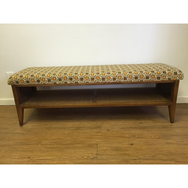 Mid Century Modern Upcycled Bench - Image 4 of 5