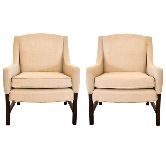 Lounge Chairs Attributed to Edward Wormley for Dunbar, 1950s For Sale