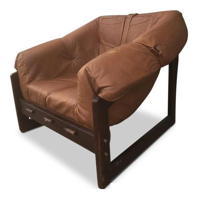 Vintage Percival Lafer Brazilian Leather Chair