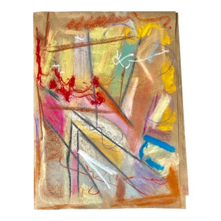 Roses in the Window Original Abstract Pastel by Erik Sulander 12x16 For Sale