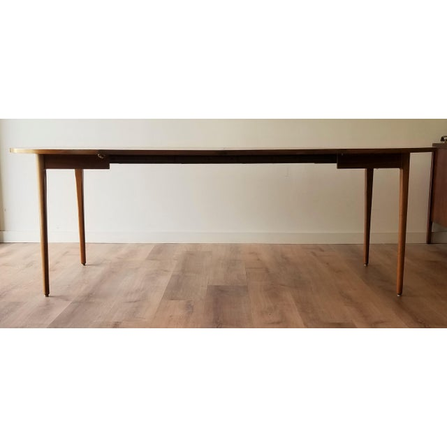 1960s 1963 Drexel Declaration Mid-Century Modern Walnut Dining Table For Sale - Image 5 of 13