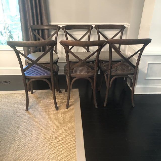 Wood Thonet Styled Restoration Hardware Dining Chairs-Set of 6 For Sale - Image 7 of 13