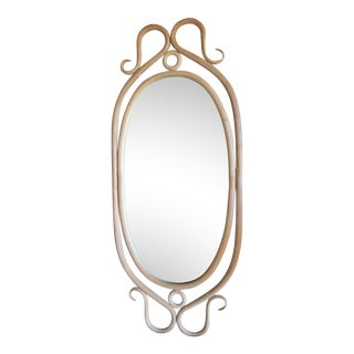 Antique French Thonet Style Bentwood Mirror For Sale