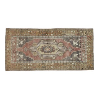 Vintage Brown Turkish Area Rug 5' X 11' For Sale