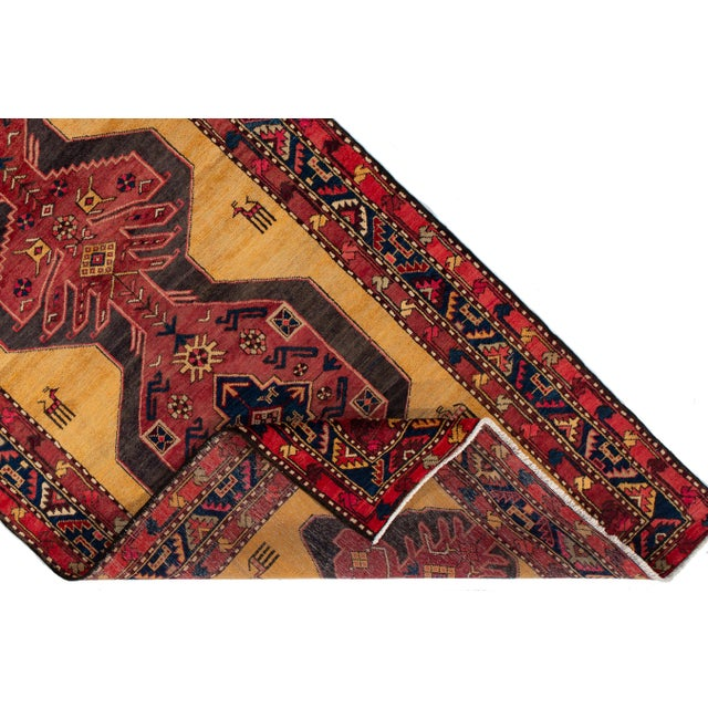 """1960s Apadana - Vintage North West Persian Rug, 4'4"""" X 10'8"""" For Sale - Image 5 of 9"""