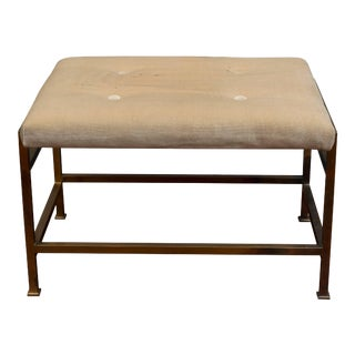 Edward Wormley Brass Bench for Dunbar For Sale