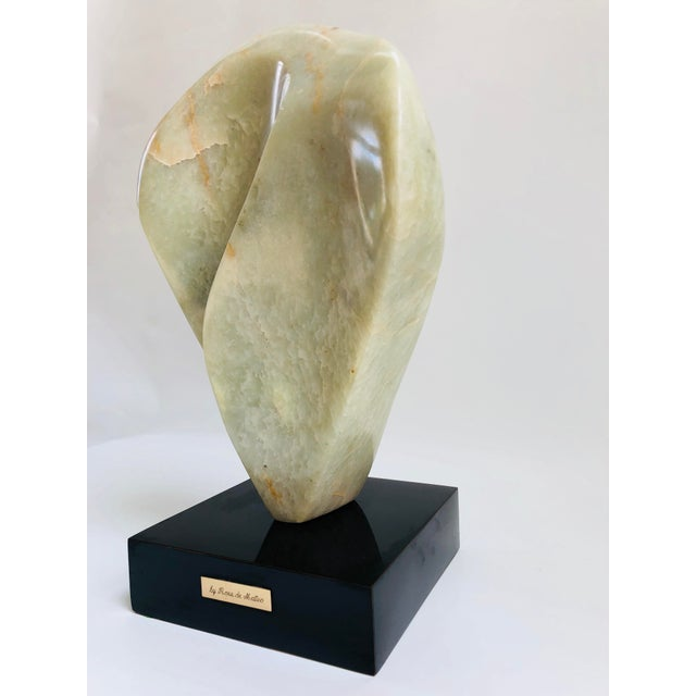 1970s Noguchi Inspired Mid-Century Modern Abstract Biomorphic Marble Sculpture For Sale - Image 5 of 12