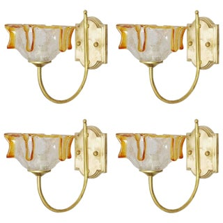 1960s Italian Candela Sconces - Set of 4 Final Clearance Sale For Sale