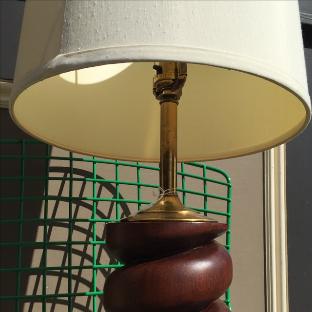 Spiral Carved Wood Table Lamp - Image 6 of 7