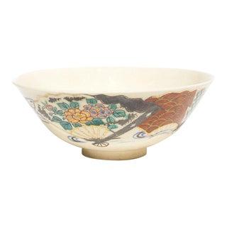 Japanese Kyomizu-Yaki Chawan Tea Bowl For Sale