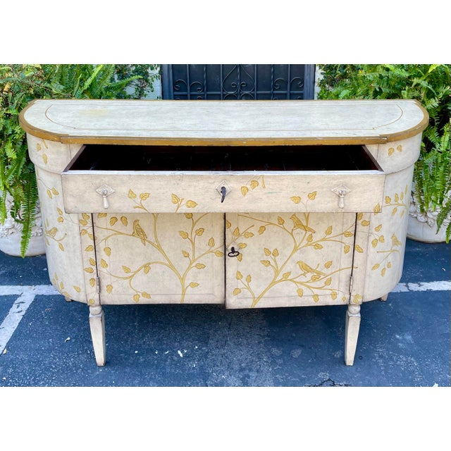 Equator Furniture Company Rustic Painted Sideboard Buffet Credenza Cabinet For Sale - Image 4 of 8