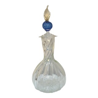 1980s Vintage Murano Class Decanter With Stopper For Sale