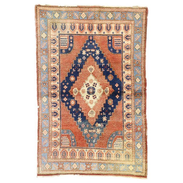 20th Century British Colonial Persian Hamadan Rug For Sale In Dallas - Image 6 of 6