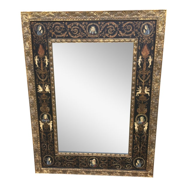 Large Classically Themed Wall Mirror - Image 1 of 5