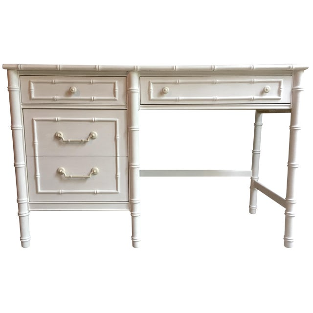 Thomasville Faux Bamboo Desk - Image 1 of 4