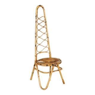 Italian Rattan Chair For Sale