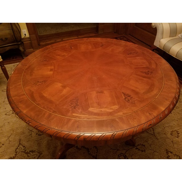 Traditional Ebanista Table With Inlay For Sale - Image 3 of 7