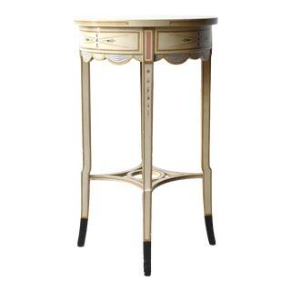 Vintage Trompe l'Oeil Side Table For Sale