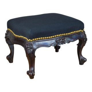 19th Century Louis XV Style Carved Footstool For Sale