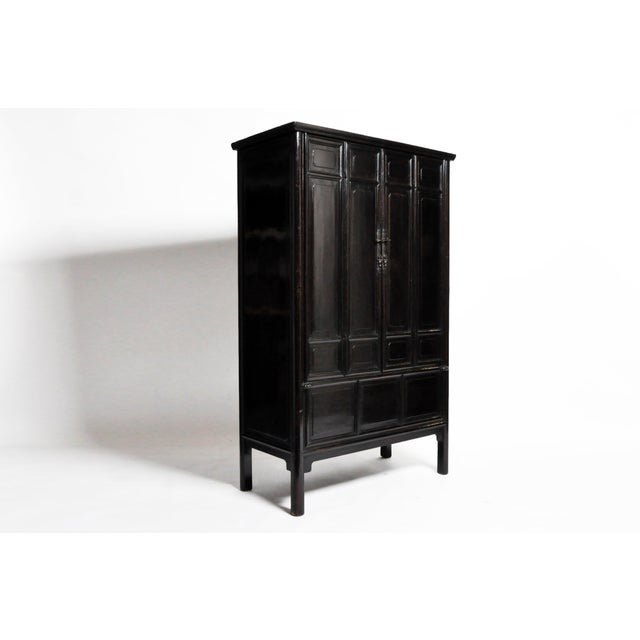 Asian Qing Dynasty Chinese Clothing Cabinet With Four Drawers For Sale - Image 3 of 13