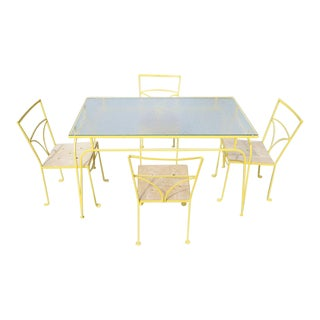 Salterini Style Iron Dining Set- 5 Pieces For Sale