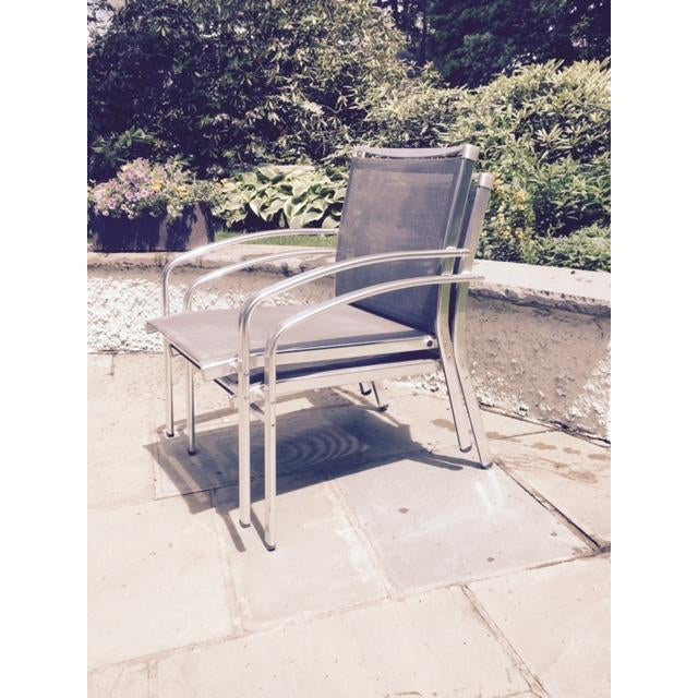 Contemporary Indecasa Lucca Armed Lounge Chairs - Set of 4 For Sale - Image 3 of 4
