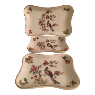 1970s Vintage Limoges Trinket Set - 3 Pieces For Sale