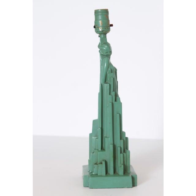 """Art Deco Machine Age Art Deco Frankart """"Spirit of Modernism"""" Table Lamp #L215, A.V. Frankenberg 1928 For Sale - Image 3 of 11"""